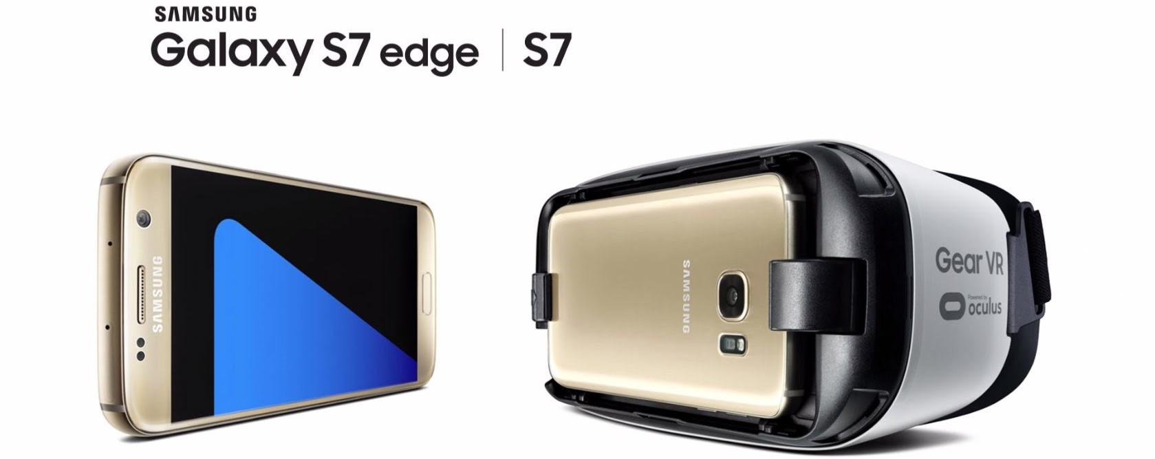 Samsung Galxy S7 en S7 Edge met Gear VR powered by Oculus
